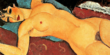 Nude by Modigliani as unique art prints on canvas, handmade paper or watercolor paper