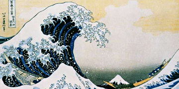 The great wave of Katsushika Hokusai as a unique art print on wood