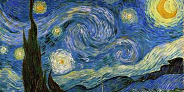 The Starry Night by Vincent van Gogh, perfect oil copy on canvas or art print on canvas.