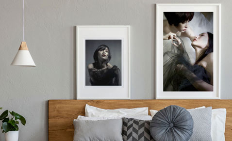Wall pictures for bedroom design