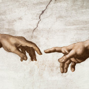 Detail from The Creation of Adam by Michelangelo
