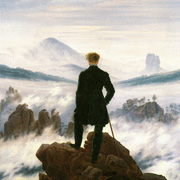 The hiker above the mist sea by Friedrich