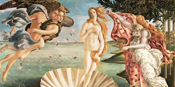 The birth of Venus by Botticelli