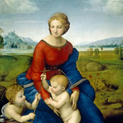 Madonna in the green by Raffaello Santi