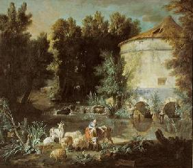 Landscape with a Round Tower