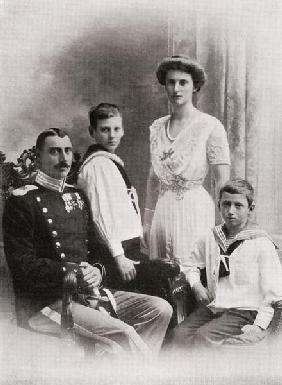 The Danish Royal Family, from ''The Year 1912'', published London, 1913 (b/w photo)