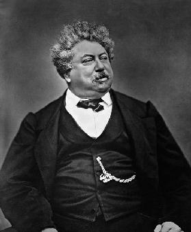 Alexandre Dumas pere (1802-70), from ''Galerie Contemporaine'', c.1874-78 (b/w photo)