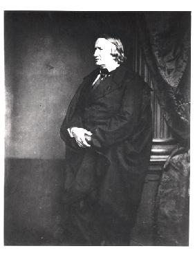 Alfred de Vigny (1797-1863) 1850s (b/w photo)