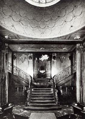 The 1st Class ''Smoking Room'' of the Ocean Liner ''Paris'', c.1925 (b/w photo)