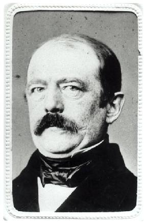 Otto Von Bismarck (1815-98) 1860s (b/w photo)