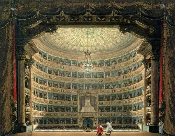 La Scala, Milan, during a performance