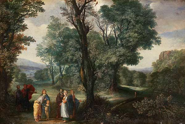 Landscape with the birth of the Adonis.
