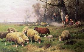 Meissner, Adolf Ernst : The Shepherd''s Family