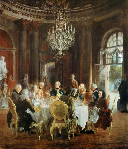 King Friedrichs II Roundtable in Sanssouci 1850