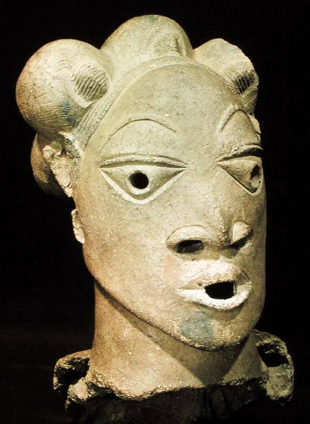 Nok Head From Rarin Kura Nigeria African As Art Print
