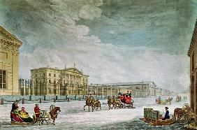 View of the Imperial Bank and the Shops at St. Petersburg (see also 87474)