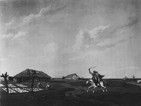 Estancia (farm) on the River San Pedro; engraved by Maile and Sutherland