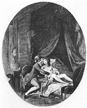 Valmont and Emilie, illustration from ''Les Liaisons Dangereuses'' Pierre Choderlos de Laclos (1741-