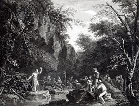 Saint John preaching in the Wilderness; engraved by John Browne