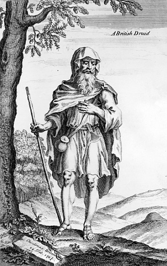 A British Druid; engraved by van der Guc - (after) William Stukeley