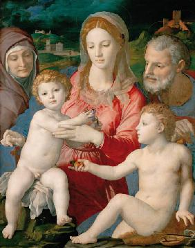 The Holy Family with Saints Anne and John the Baptist