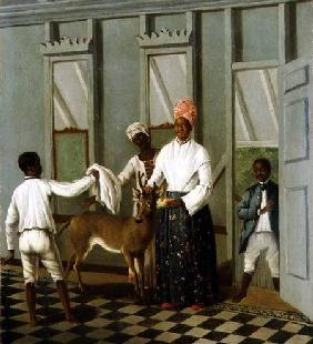 Negro Servants Washing a Deer