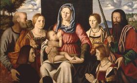 Luini, Bernardino : Mary, Child, Saints / Luin...