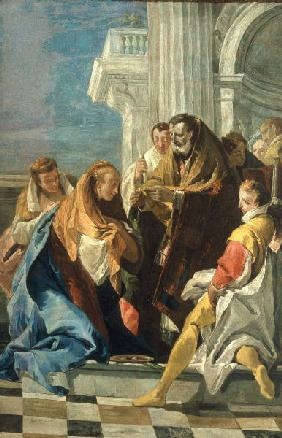 G.B.Tiepolo /Communion of St.Lucia/Ptg.
