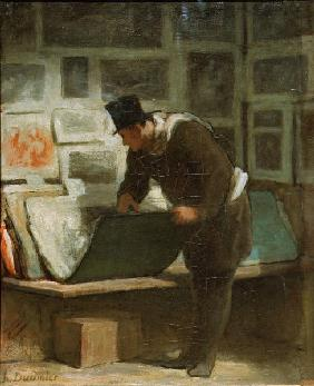 H.Daumier, The print collector