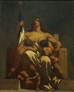 H.Daumier / La Republique 1848