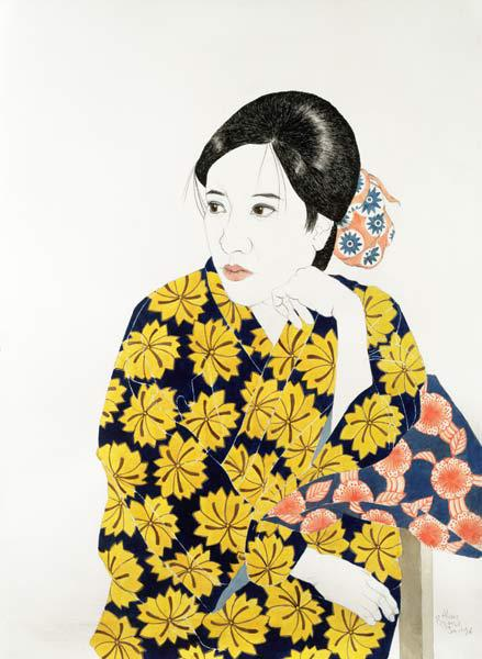 Yellow Kimono, 1996 (ink, w/c, gouache and charcoal on paper)