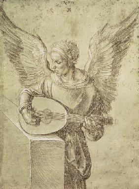 D�rer, Albrecht : Angel playing a lute