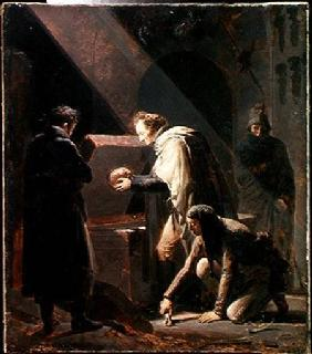 Dominique Vivant Denon (1747-1825) Replacing the bones of Le Cid in his Tomb