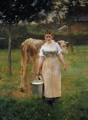 The girl with the milk bucket