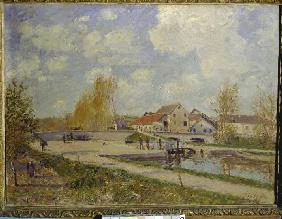 Sisley, Alfred : The sluice of Moret.
