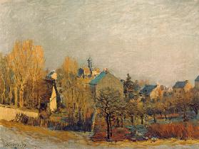 A.Sisley / Frost in Louveciennes / 1873