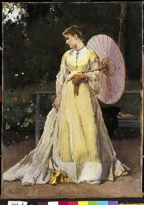 In the country (lady with parasol)