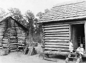Log cabins in Thomasville, Florida, c.1900