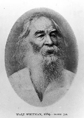 Walt Whitman, photographed in 1889