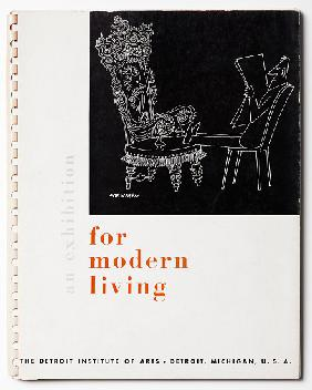 Cover of the catalogue for 'An Exhibition for Modern Living'