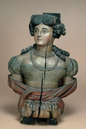 Figurehead of a young lady