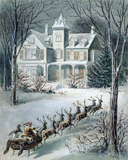 Illustration From Twas The Night Before Christmas As Art