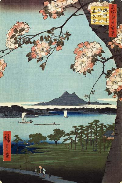 Massaki and the Suijin Grove by the Sumida River (One Hundred Famous Views of Edo)