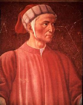 Dante Alighieri (1265-1321) detail of his bust, from the Villa Carducci series of famous men and wom