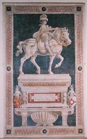Equestrian monument to Niccolo da Tolentino (d.1435) 1456  (post restoration)