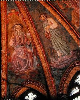 God the Father and St John, from the Vault of the Apse in the Chapel of St Tarasius