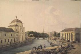 View of the Moika River by the Imperial Stables
