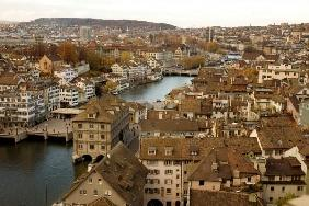 Andres Rodriguez - zurich skyline - river view