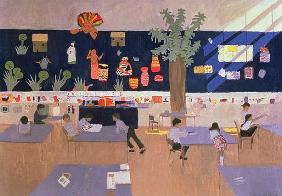 Classroom, Derby, 1985 (oil on canvas)