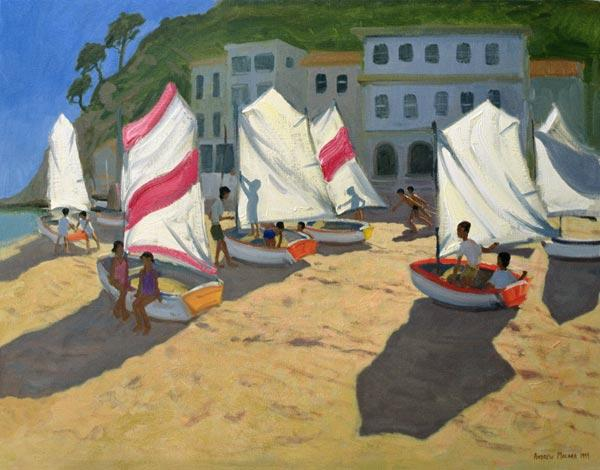Sailboats, Costa Brava, 1999 (oil on canvas)
